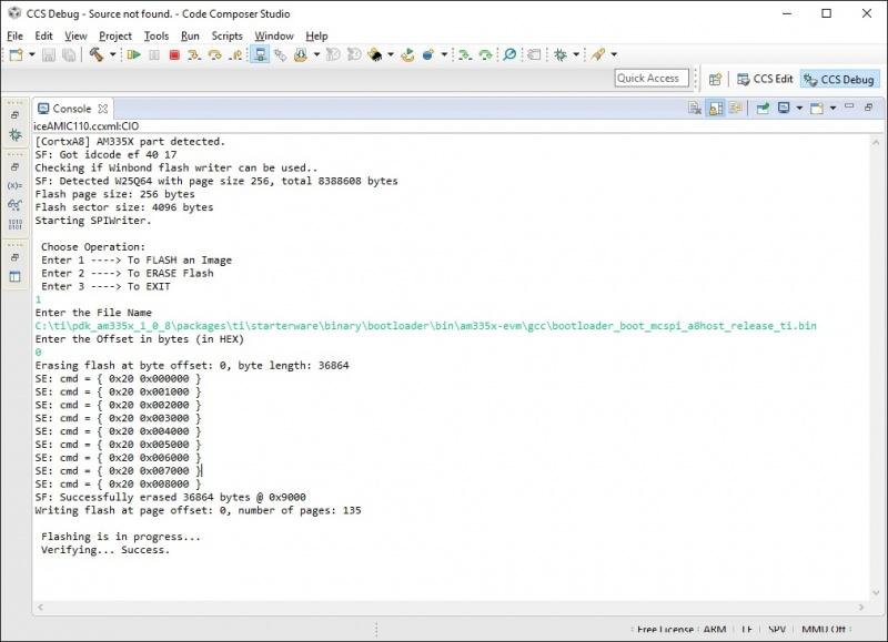 uniflash 1.2.1