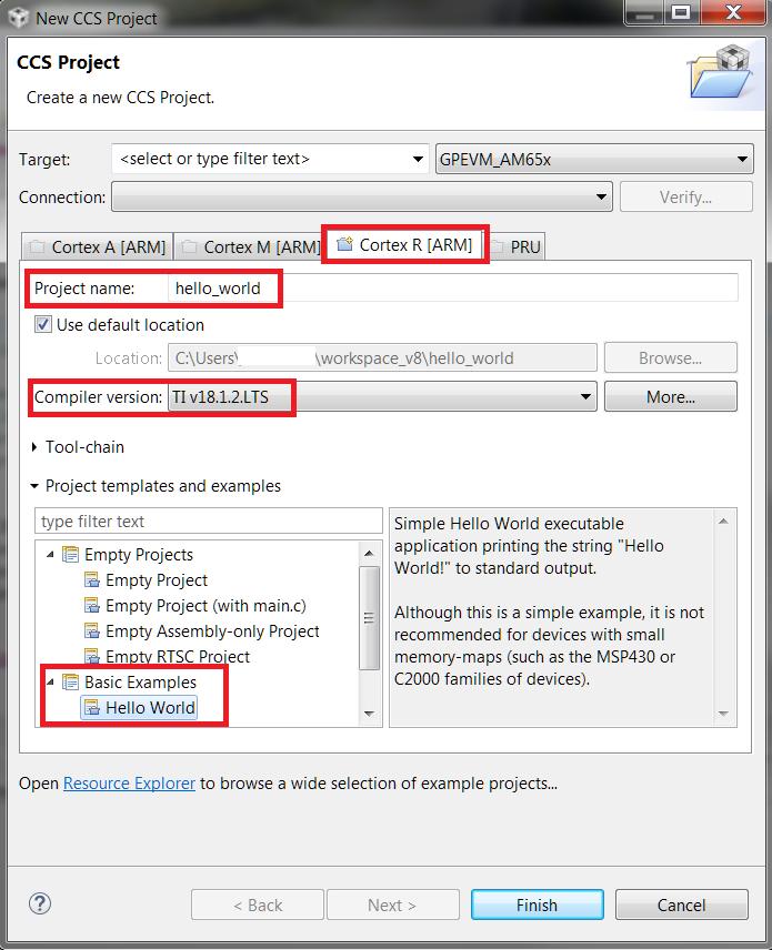 9 1  Template Application Workshop — Processor SDK RTOS Documentation